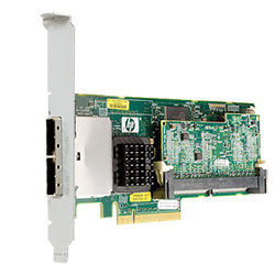 [HP] Smart Array P411 with 512MB Flash Backed Cache SAS Raid Controller FBWC 2-Ports Ext PCIex8 SAS