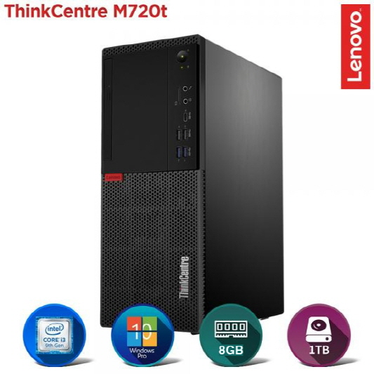 [레노버] 씽크센터 M720t 10SQS0XF00 [i3-9100/RAM 8GB/HDD 1TB/Windows 10 Pro]
