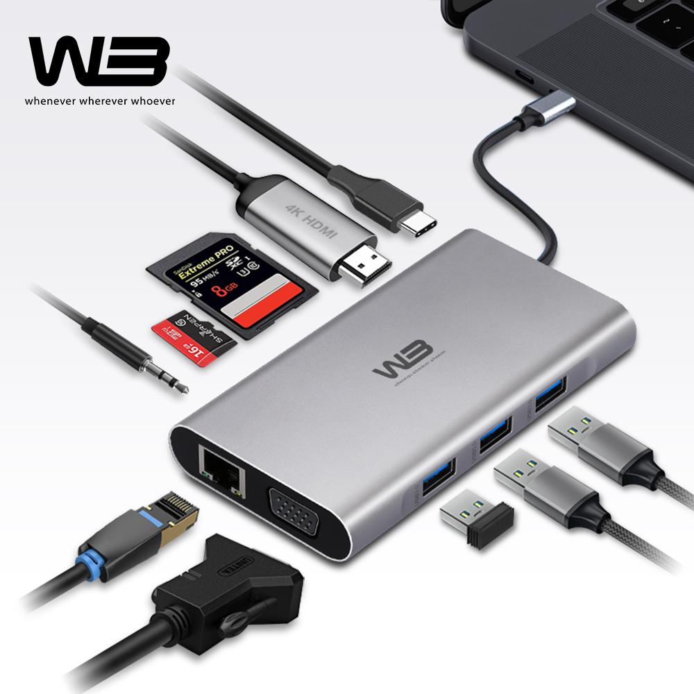 [W3] C타입 10in1 멀티허브 삼성DEX 지원 닌텐도 스위치 호환 태블릿 스마트폰 노트북 PD급속충전 [CTH-10]