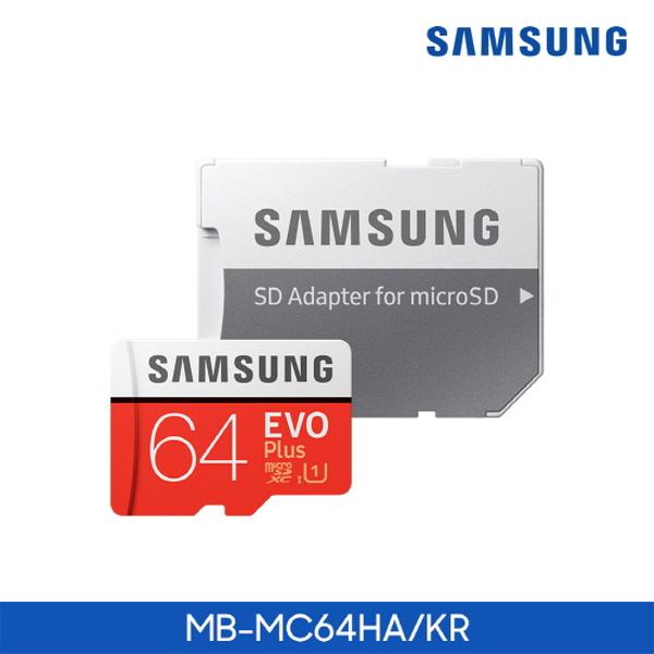 [삼성전자] Micro SD카드 EVO PLUS 64GB [MB-MC64HA/KR]
