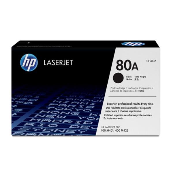 [HP] 정품토너 No.80A CF280A 검정 (M401d/M401dne /M401dw/M401n /M425dn /M425dw/M401dn/2.7K/2,700매)