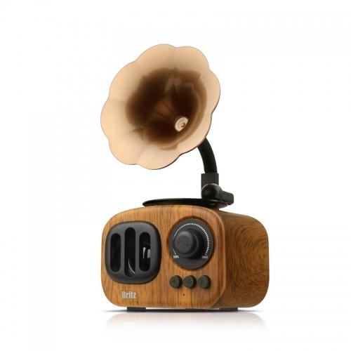 [브리츠] 레트로 엔틱 FM라디오 올인원 블루투스 스피커 BA-MK2