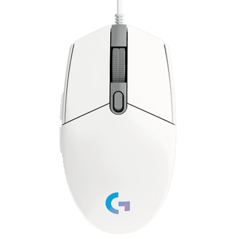 [로지텍] 유선 마우스 G102 LIGHTSYNC [화이트]