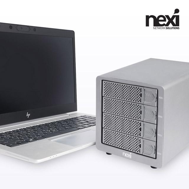 [리버네트워크] NX770 USB3.0 eSATA 4Bay RAID 케이스 (NX-804RU30)