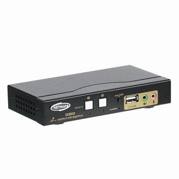[강원전자] NETmate NM-HKD02C [HDMI KVM스위치/2:1/케이블 포함]
