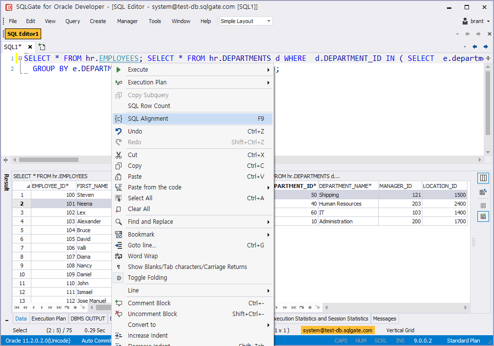 Align Query Statements