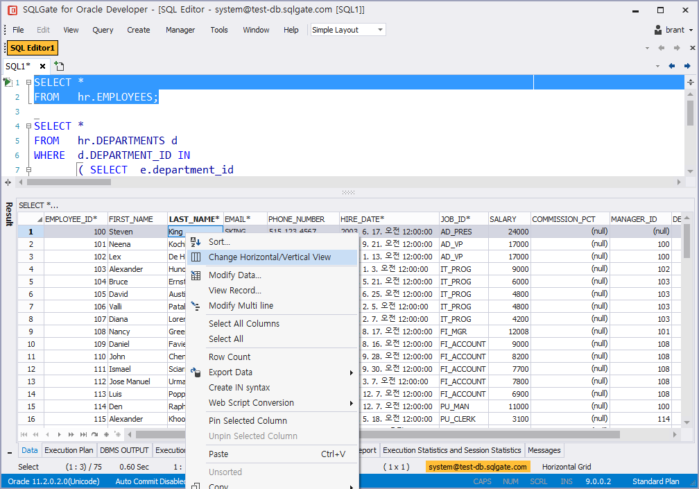 Using the Advanced SQL Editor · SQLGate - The Most Intelligent IDE