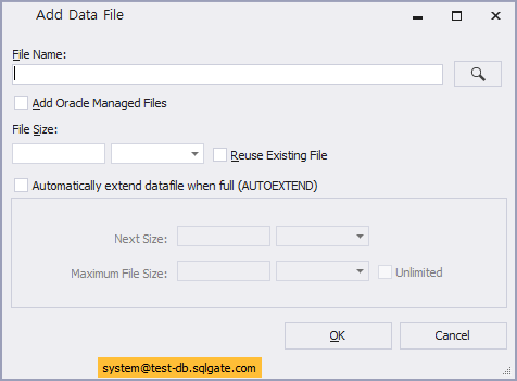 Expand Tablespace Using Tablespace Manager Add Data File