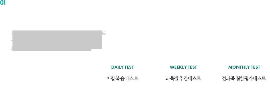 개인별 학습점검 정기 TEST SYSTEM