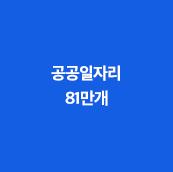 공공일자리 81만개
