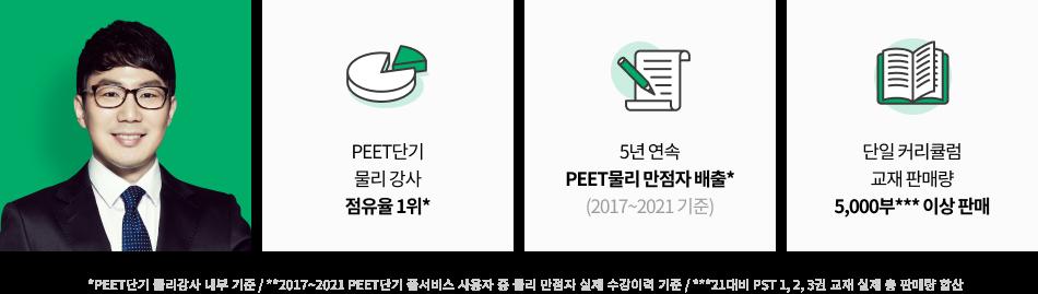 PEET단기 물리 강사 점유율 1위