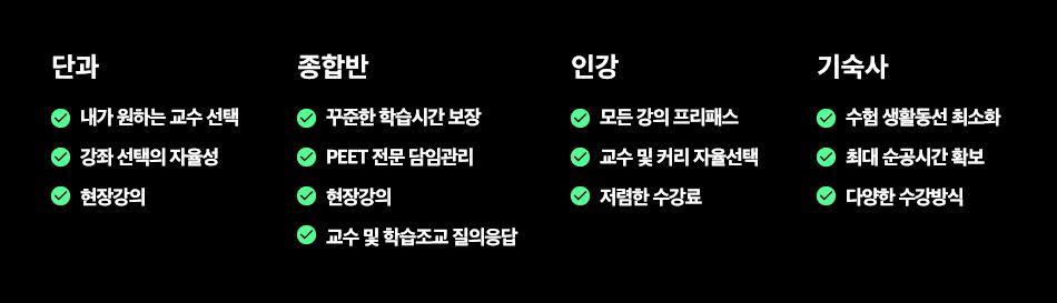 단과/종합반/인강/기숙사