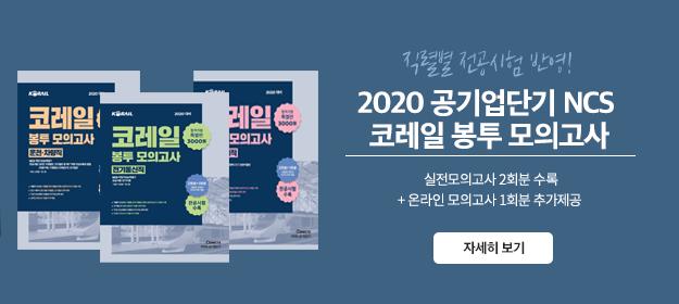 2020 코레일 봉투모의고사 3종