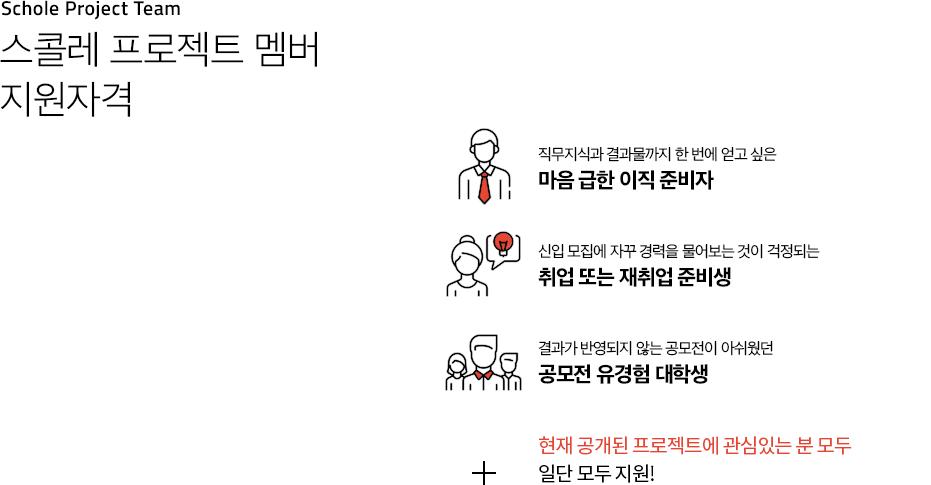 스콜레 프로젝트 멤버 지원자격