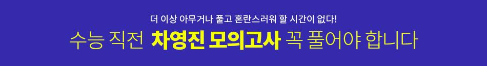 [강사띠] 차영진T 모의고사