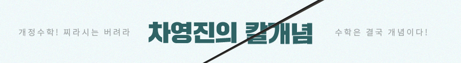 [강사띠] 차영진 칼개념