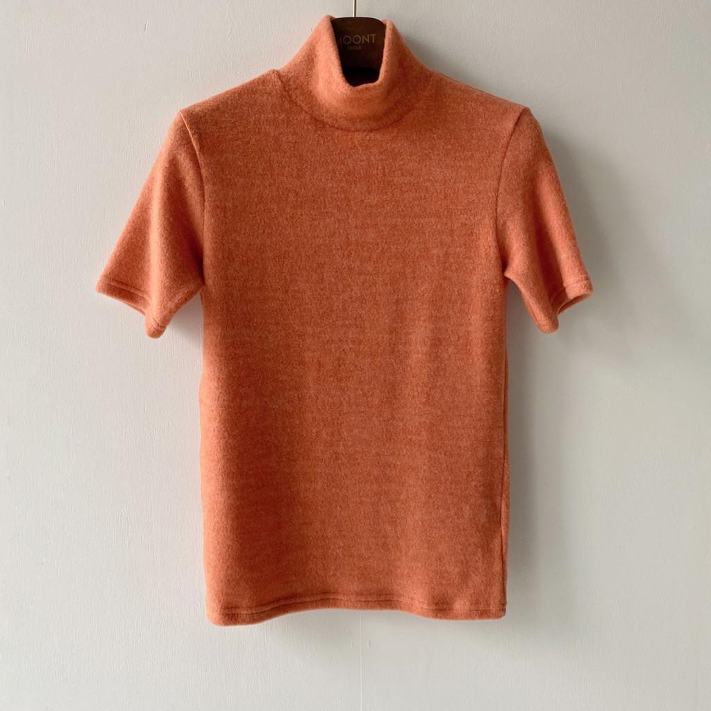 반팔 티셔츠 브라운 색상 이미지-S1L25