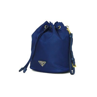 micro mini bucket bag blue