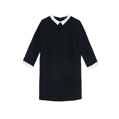 petit collar dress black