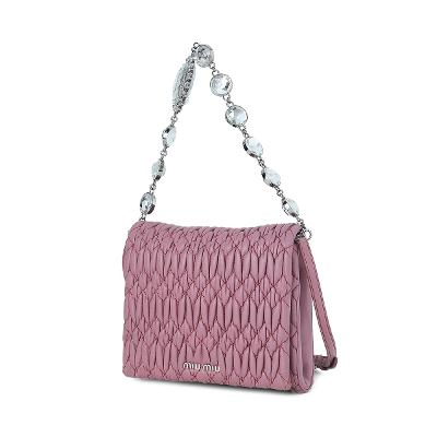 matelasse crystal flap mini bag