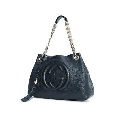 soho chain bag black