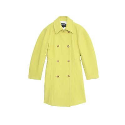 double-breasted coat lime