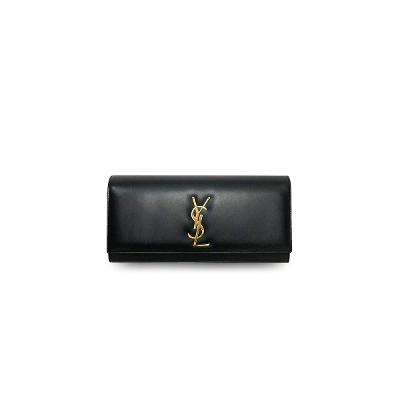cassandre monogram clutch black