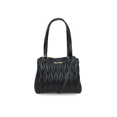 matelasse shoulder bag black