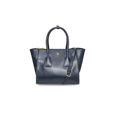 glace calf tote navy