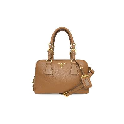 top handle shoulder bag brown