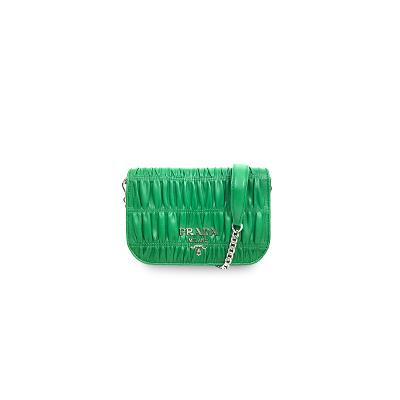 matelasse mini bag green