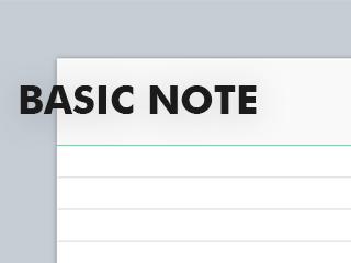 basic note