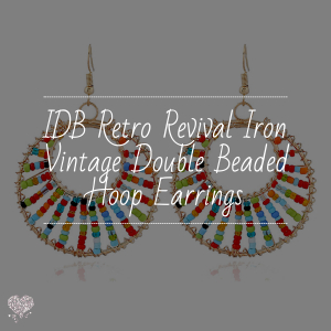 IDB Retro Revival Iron Vintage Double Beaded Hoop Earrings