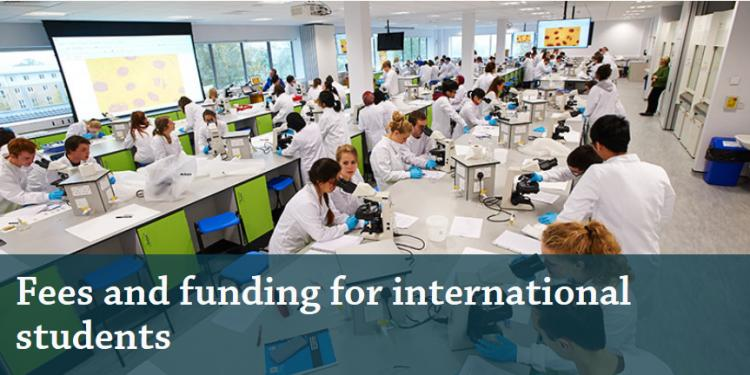 fees and funding for international students