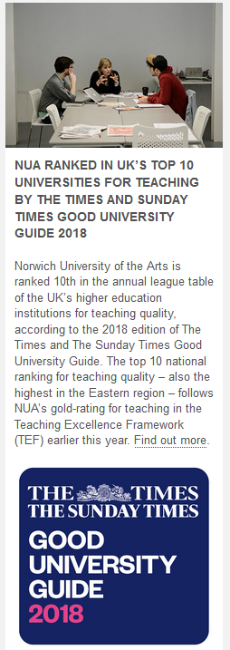 The Times and Sunday Times - Good university guide 2018 사진