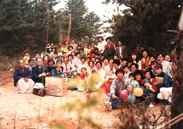 1990년 야외예배(용유해변)